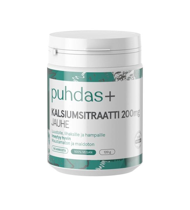 Puhdas+ 200 mg 120 g kalsiumsitraatti