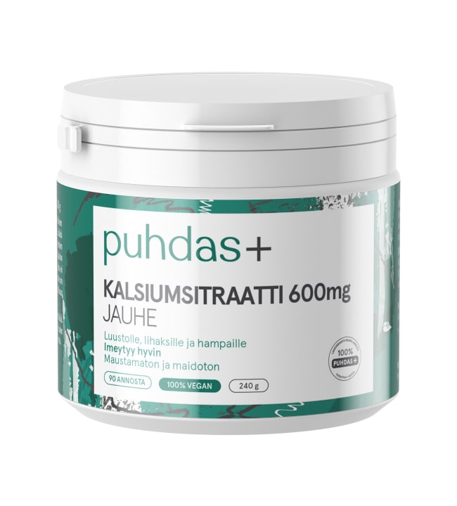 Puhdas+ 600 mg  240 g kalsiumsitraatti