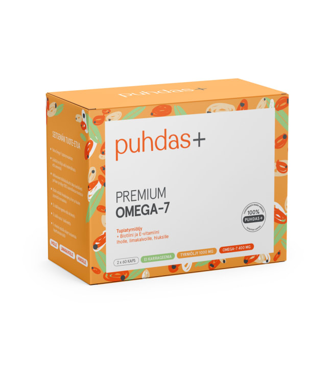 Puhdas+ Premium Omega-7 120 kaps. ravintolisä
