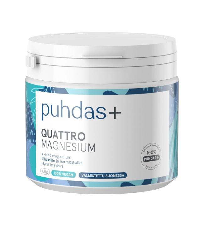 Puhdas+ Quattro Magnesium 150 g ravintolisä