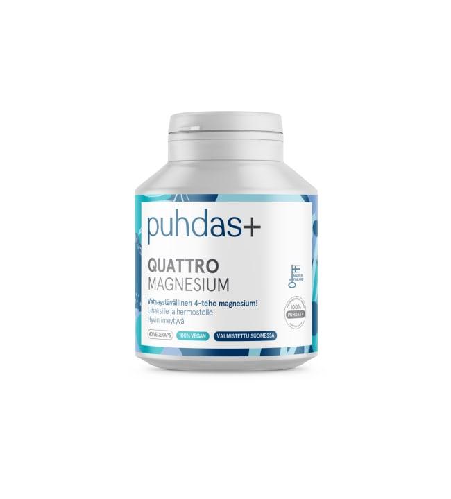 Puhdas+ Quattro Magnesium 60 vegekaps. ravintolisä