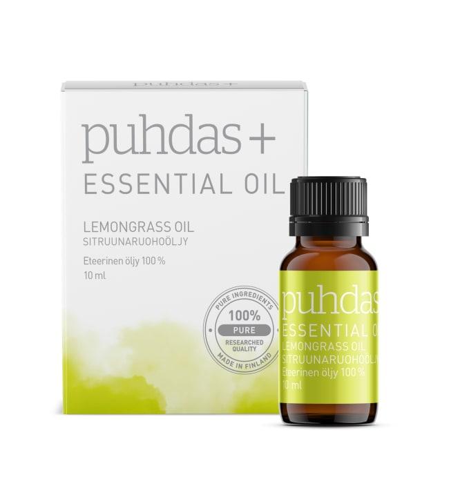 Puhdas+ 100% Sitruunaruoho 10 ml eteerinen öljy