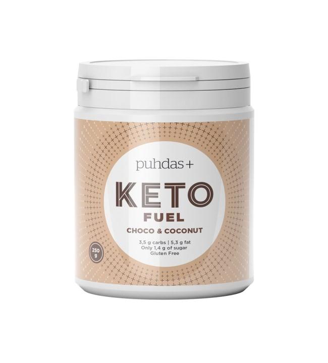 Puhdas+ KETO Fuel Choc & Coconut  250 g vähähiilihydraattinen välipala
