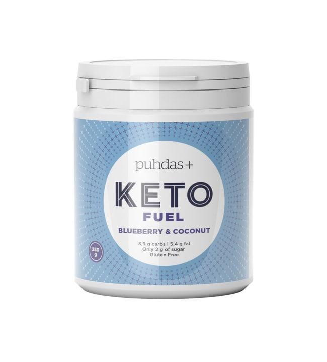 Puhdas+ KETO Fuel Blueberry & Coconut  250 g vähähiilihydraattinen välipala