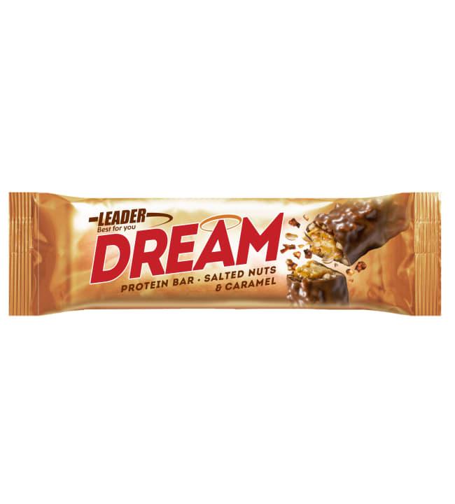 Leader Dream 45 g Salted Nuts & Caramel proteiinipatukka