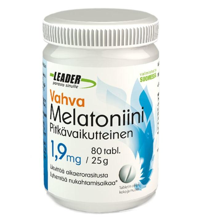 Leader Vahva 1,9 mg Melatoniini ravintolisä