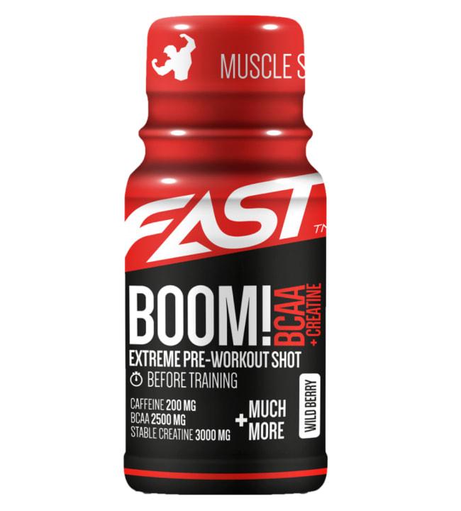 Fast BOOM! BCAA+Creatine Wild Berry 60 ml energiashotti