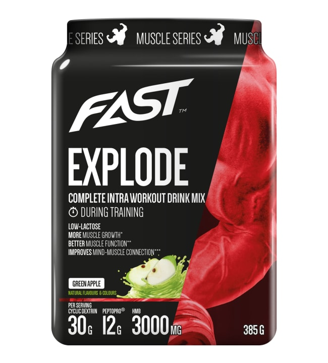 Fast Muscle Series Explode Vihreä Omena 385 g Explode juoma
