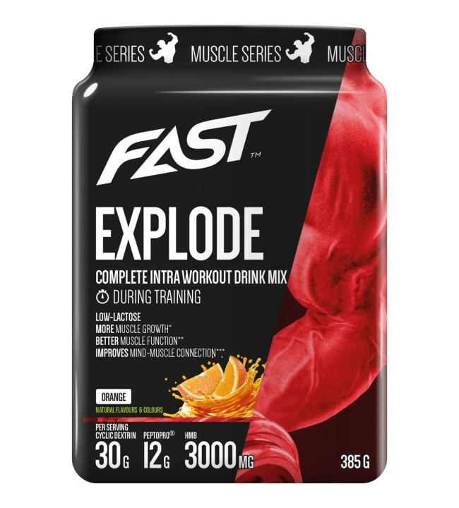 Fast Muscle Series Explode Appelsiini 385 g treenijuomajauhe