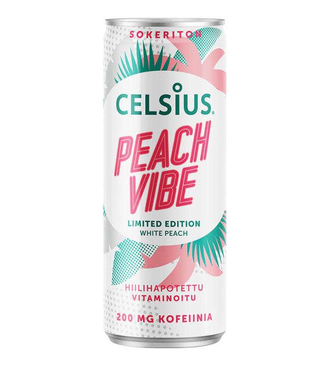 Celsius White Peach 355ml virkistysjuoma