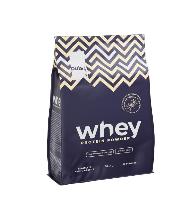 Puls Whey Vanilja 500 g proteiinijauhe