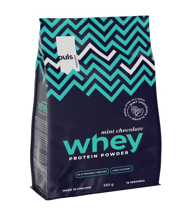 Puls Whey Minttusuklaa 550 g proteiinijauhe