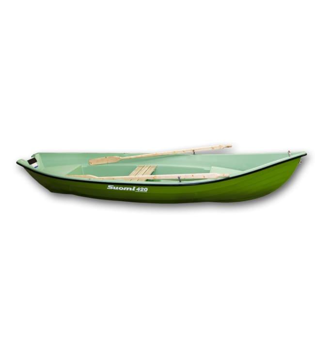 Suomi 420 vihreä 2-kuorimalli soutuvene