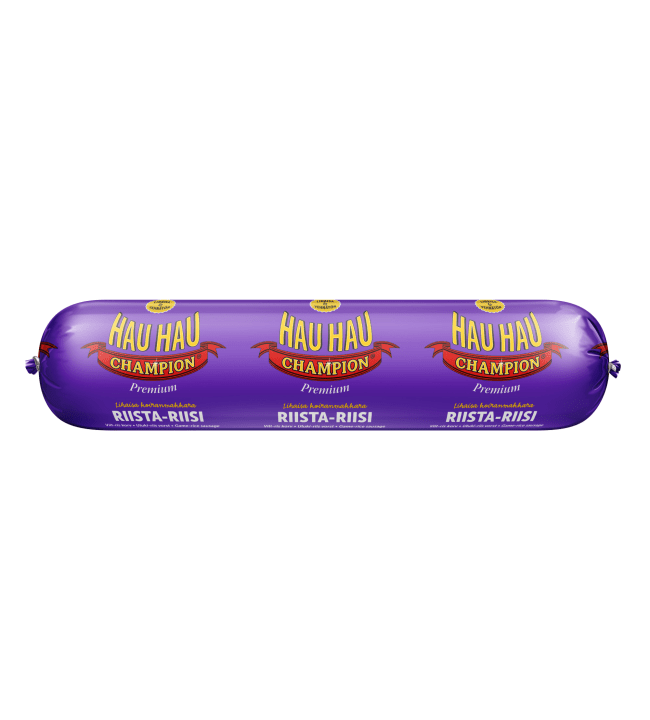 Hau-Hau Champion riista-riisi 800 g koiranmakkara