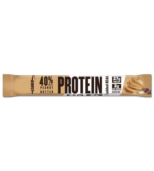 Leader 40%  68 g maapähkinävoi BCAA-proteiinipatukka
