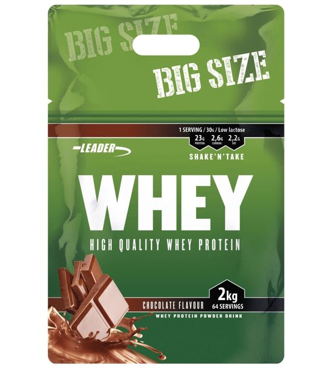 Leader Whey Chocolate 2 kg heraproteiinijauhe