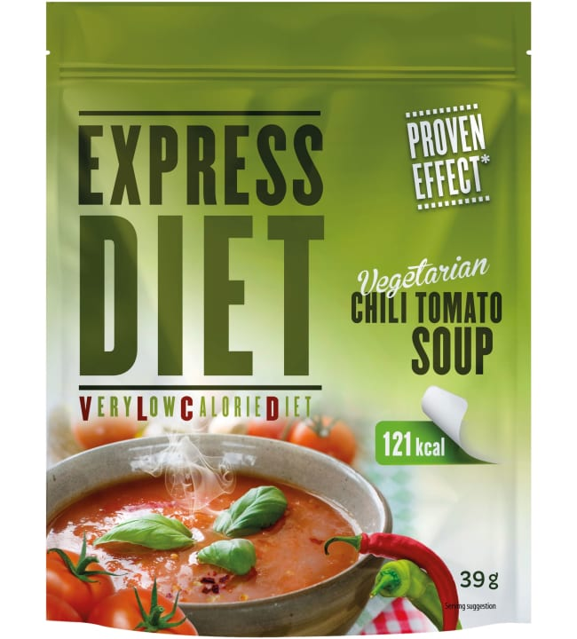 Express Diet 39 g VLCD vegaaninen tomaatti-chilikeitto