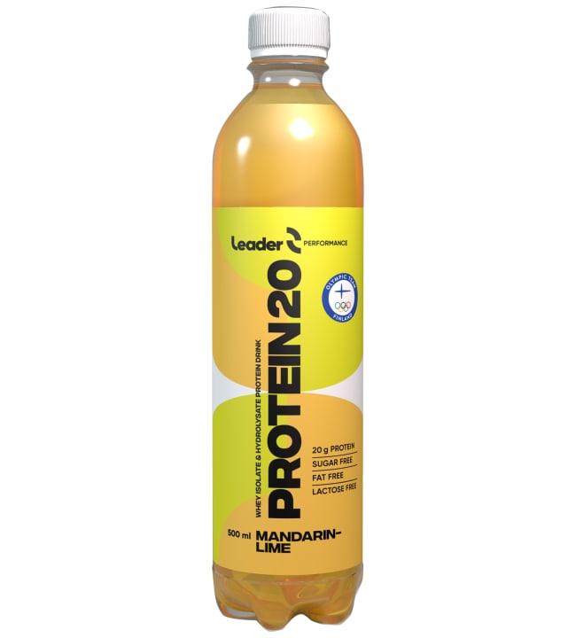 Leader Protein 20 Mandariini-Lime 500 ml proteiinijuoma