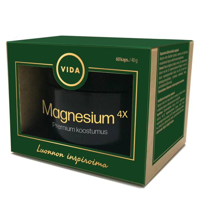 Vida Kuulas Magnesium4X 60 kaps. ravintolisä