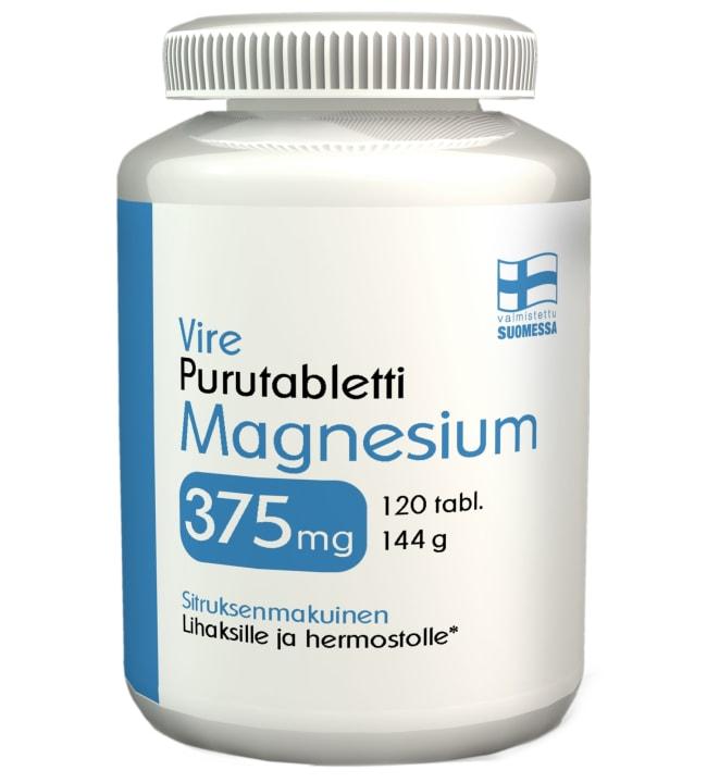 Vire Magnesium 375 mg Sitrus 120 tabl. ravintolisä