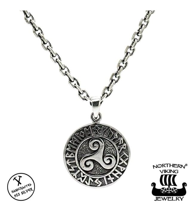 Northern Viking Jewelry Triskele hopeariipus