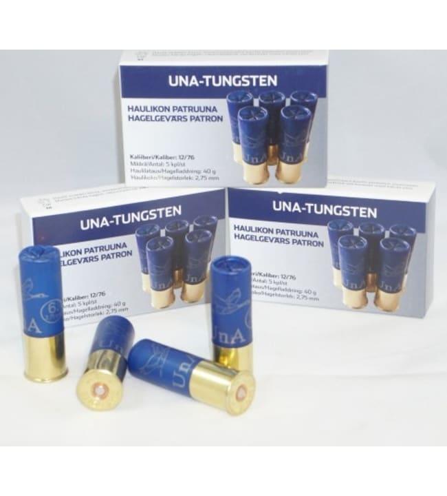 UnA Tungsten 12/76 40 g 2,75mm 5 kpl haulikonpatruuna