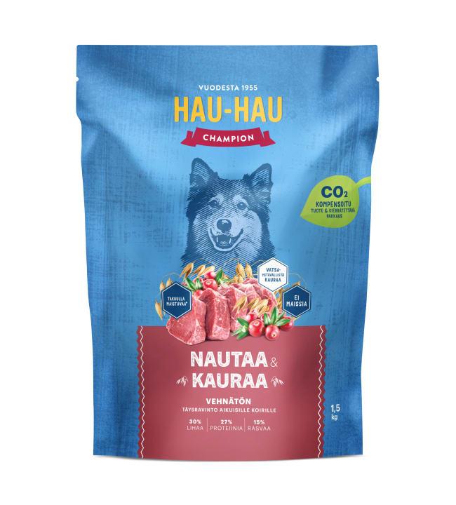 Hau-Hau Champion Nauta-kaura täysravinto 1,5 kg
