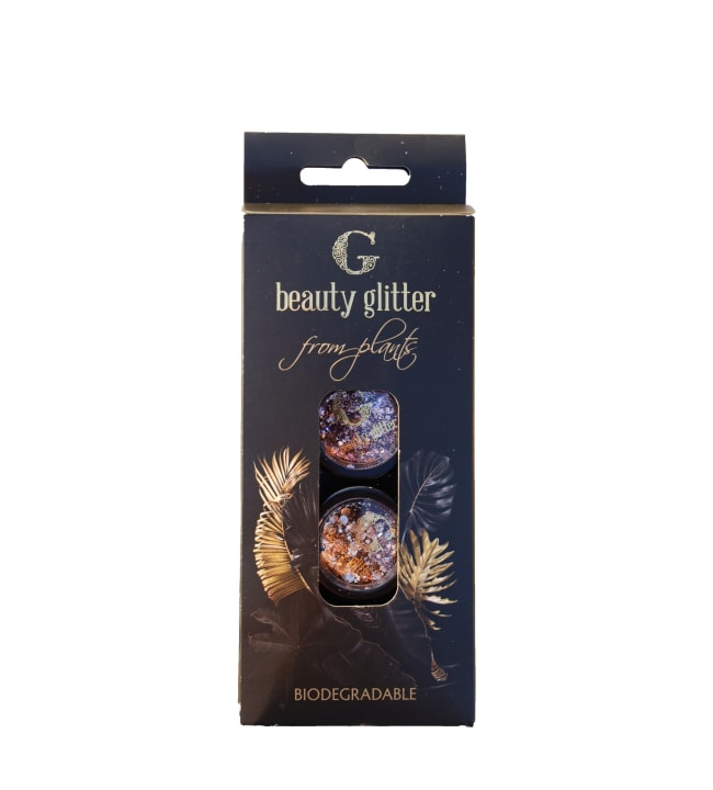 G Beauty Rose Gold & Purple Diamond bioglitter