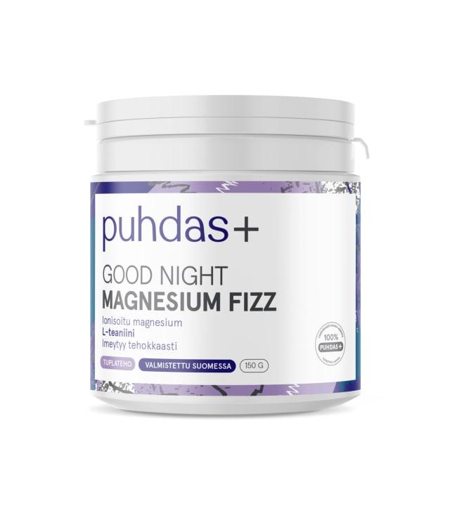 Puhdas+ Good Night Magnesium Fizz 150 g ravintolisä
