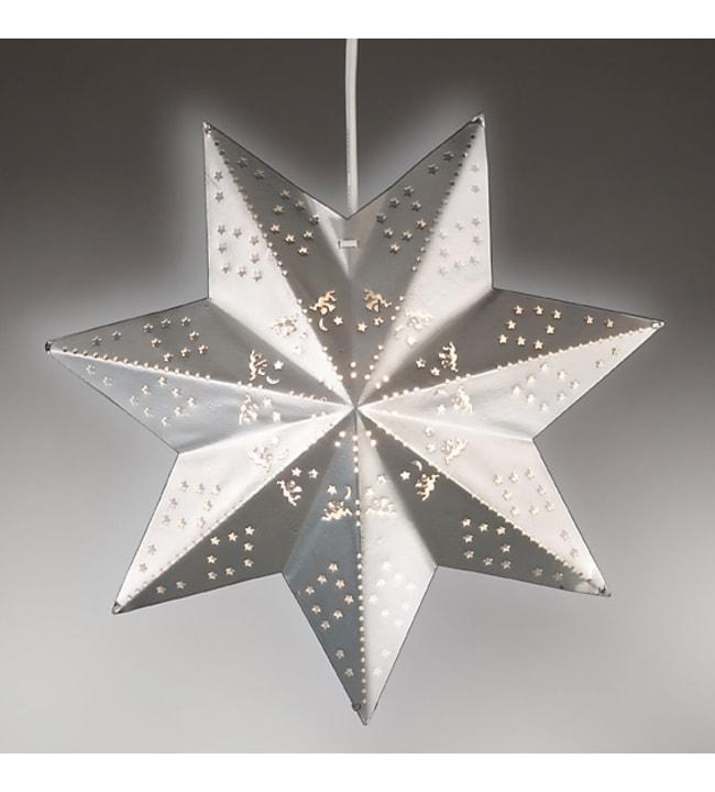 Airam Leena 30 cm valkoinen metallitähti