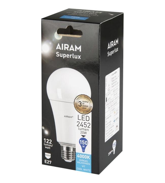 Airam E27 2452lm 4000K ledvakiolamppu