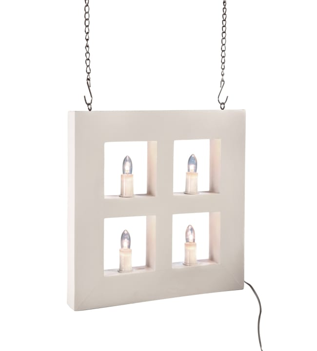 Airam valkoinen 25x25cm led ikkuna