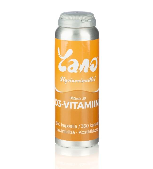 Yano 360 kaps 100 µg D3-vitamiini ravintolisä