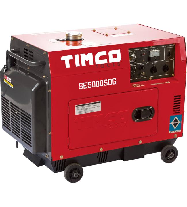 Timco SE5000SDG 230V diesel aggregaatti