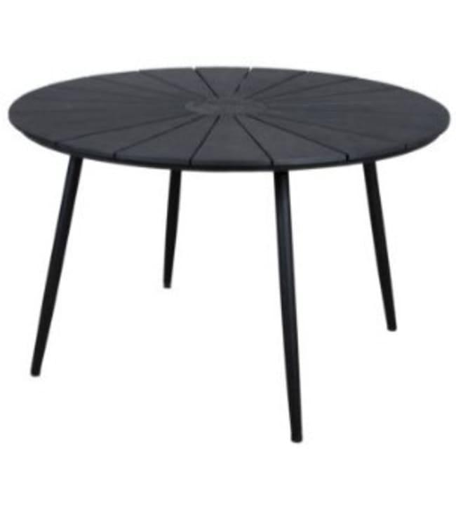 Marseille ø120cm musta pöytä