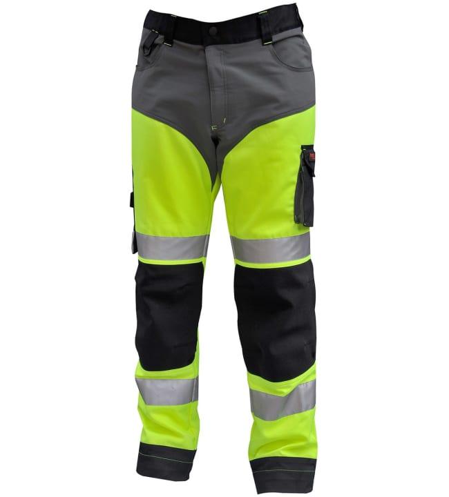 Timco Workwear Hi-Vis keltainen joustavat työhousut