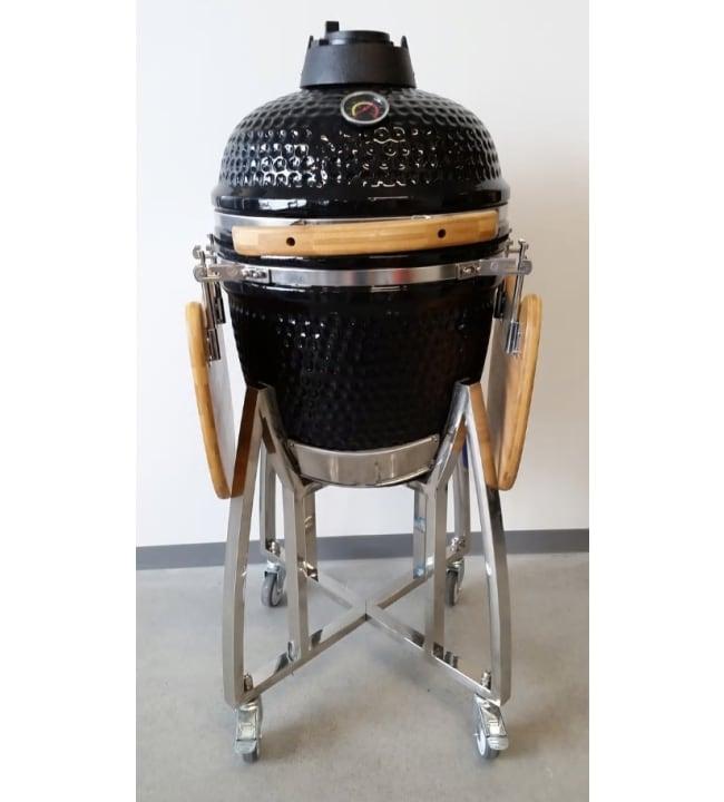 """Kamado 18"""" musta keraaminen grilli"""