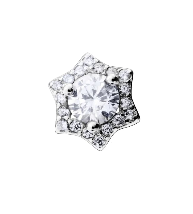 Saurum ST541506000 zirkoni hopeakorvakoru