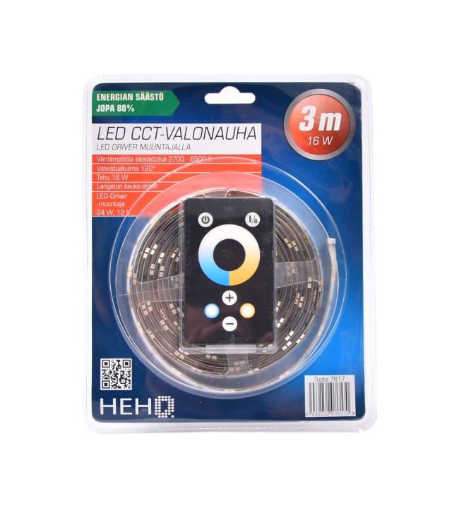 Hehq IP44 2700K-6500K 3m himmennettävä ledvalonauha kauko-ohjaimella