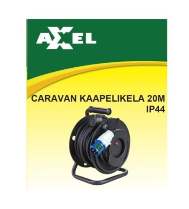 Axxel 20m+2m 3x2,5mm IP44 caravan kaapelikela