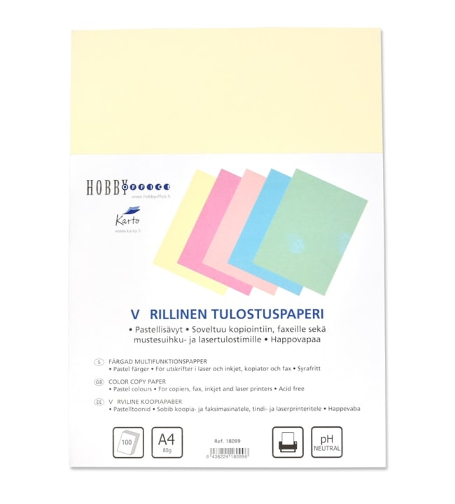 Värillinen A4 tulostuspaperi