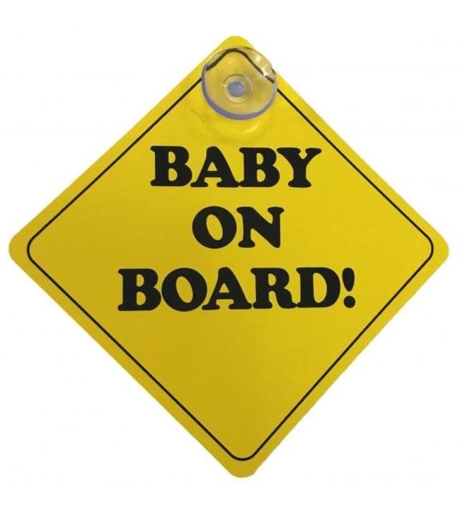 "Car Lux 2kpl ""Baby on board"" kyltti"