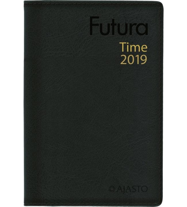 Futura Time musta taskukalenteri 2019