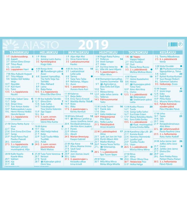 Suuri seinäalmanakka seinäkalenteri 2019