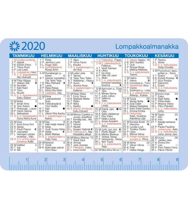 Ajasto 2020 Lompakkoalmanakka