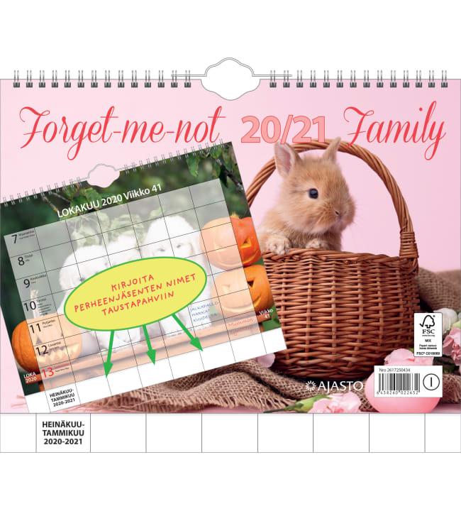 Ajasto Forget-me-not 2020-2021 perhekalenteri
