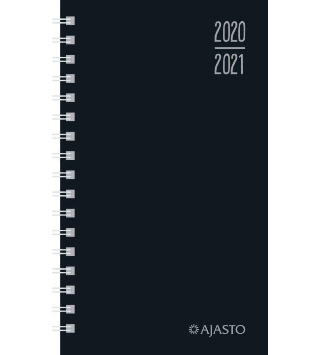 Ajasto Simple musta 2020-2021 lukuvuosikalenteri