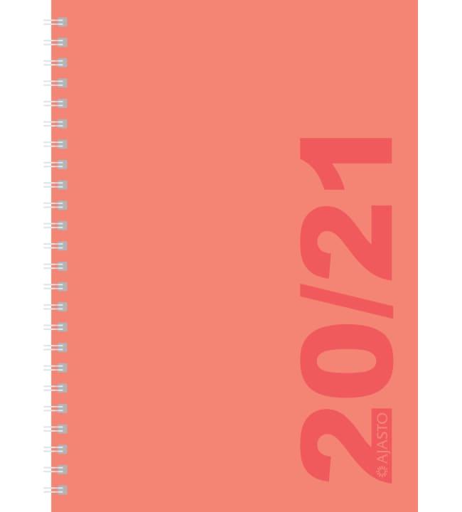 Ajasto A5 Simple koralli 2020-2021 lukuvuosikalenteri