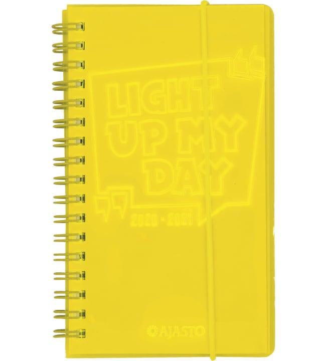 Ajasto Neon keltainen 2020-2021 lukuvuosikalenteri