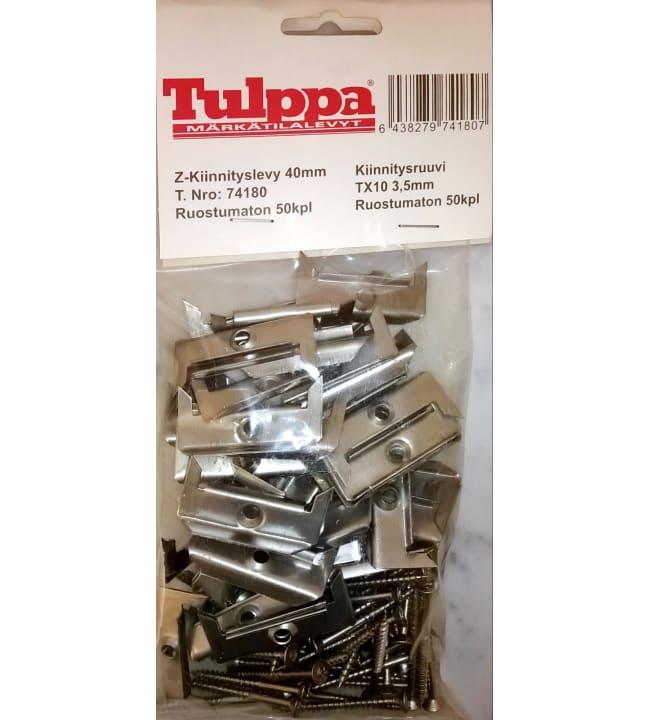 Finnfoam Tulppa Z-kiinnike + 50 mm ruuvit 50 kpl